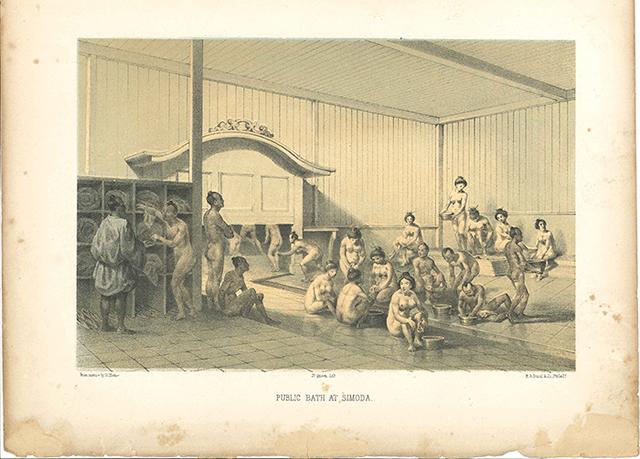 当時の下田にあった公衆浴場の様子